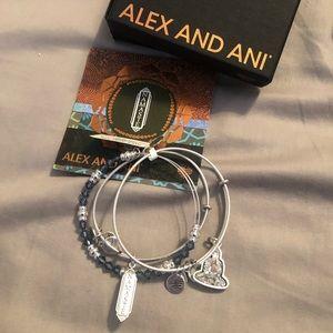 Alex and Ani namaste crystal beaded bangle set